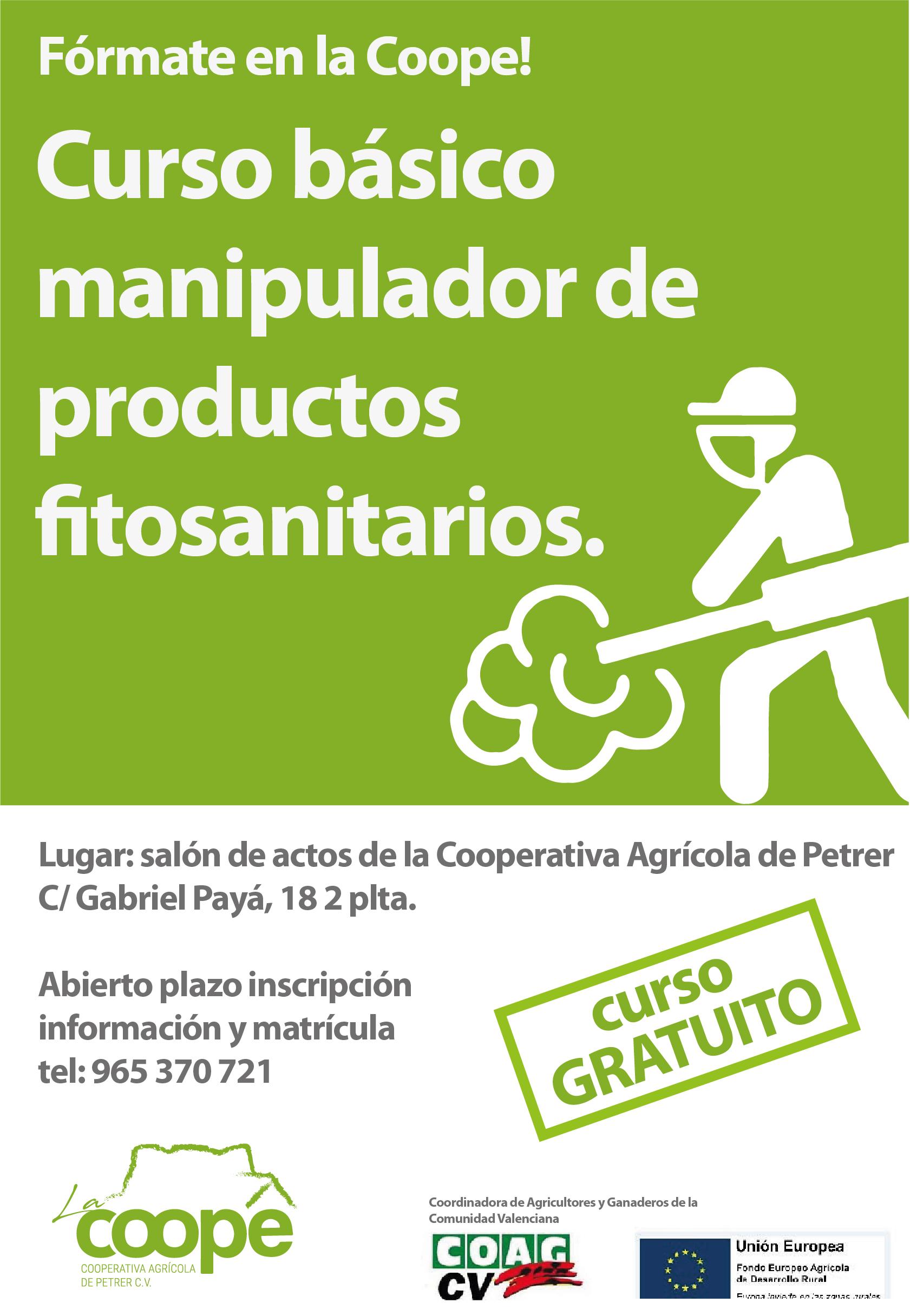 Curso básico de manipulador productos fitosanitarios en la cooperativa agrícola de Petrer