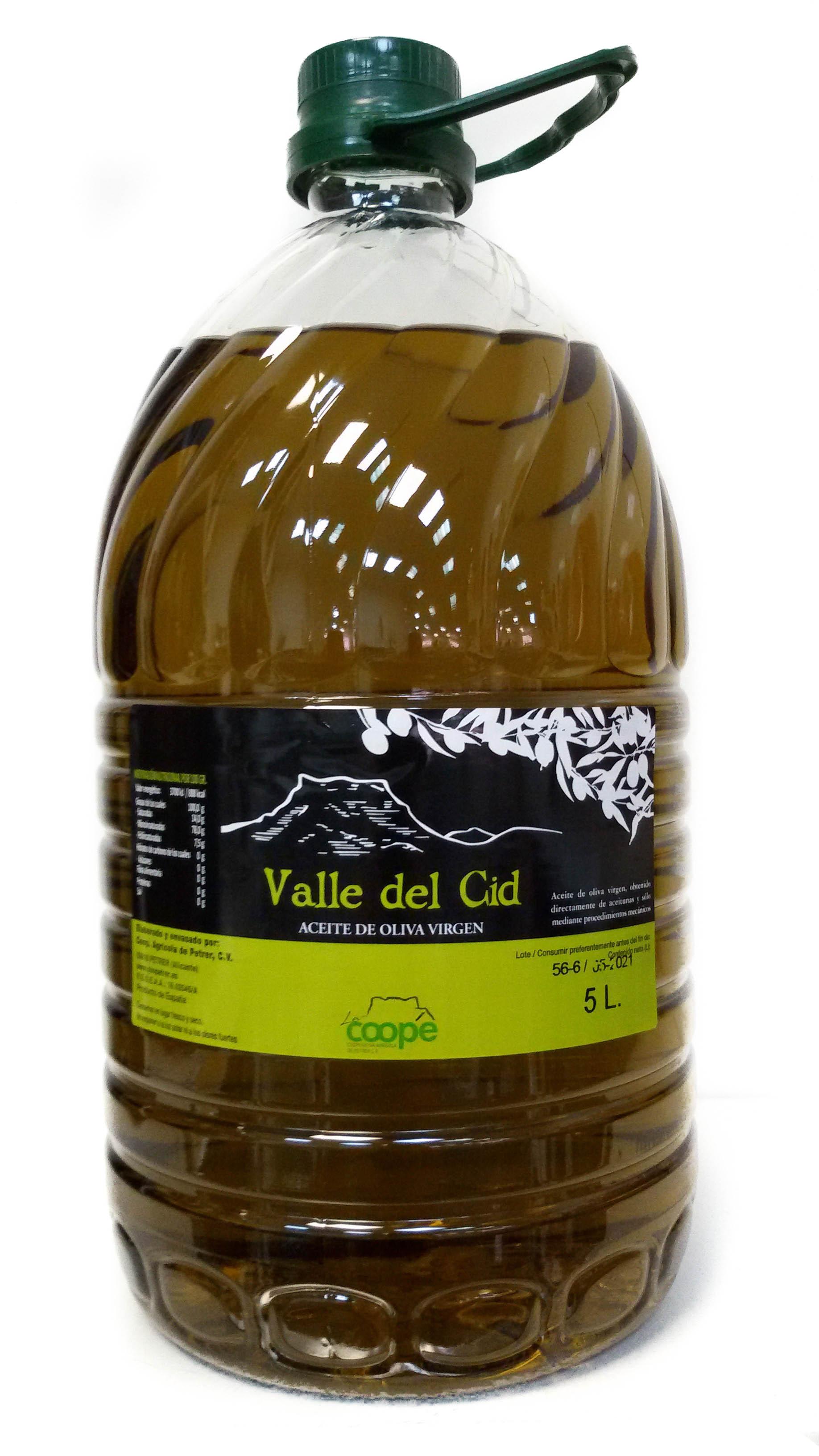 ACEITE DE OLIVA VALLE DEL CID 5 LITROS